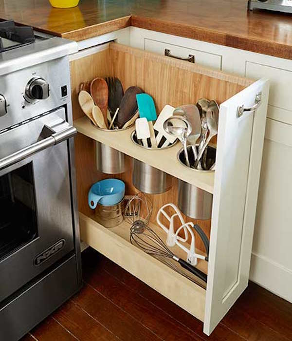 Kitchen pullout shelving