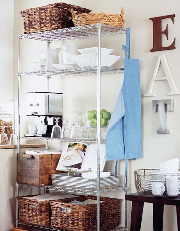 metal shelving kitchen ideas