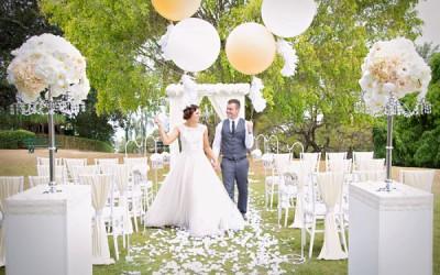 Balloons Garden Wedding