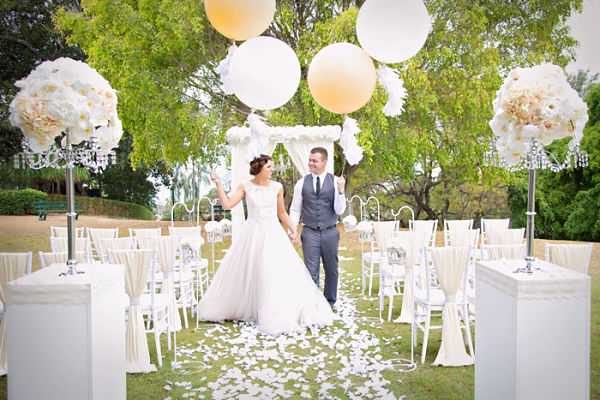 Balloons Garden Wedding