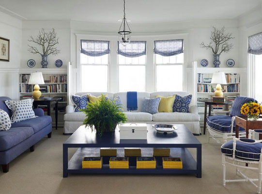 Bold and Classic Living Room