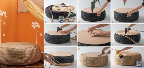 Old Tyre Recycling DIY Projects