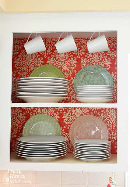 Cabinets With Fabric Paint