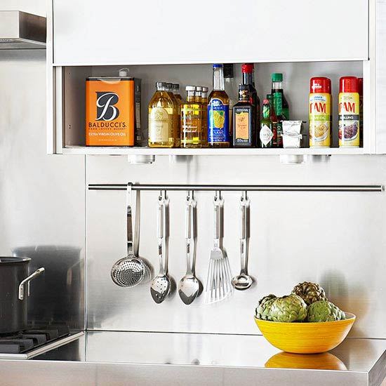 Kitchen Metal Shelves