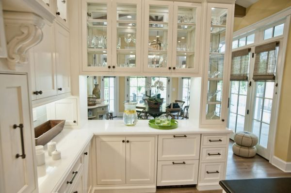 Peninsula Glass Cabinets